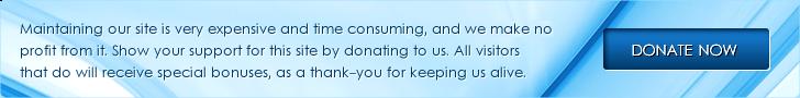 Баннер: Пожалуйста, пожертвуйте, чтобы сохранить этот сайт в живых